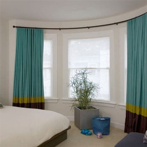 Curtain Amazing Bow Window Curtain Rods Flexible Traverse