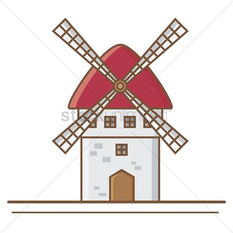 Windmill Clipart Windmill Vector Image 1570378 Stockunlimited