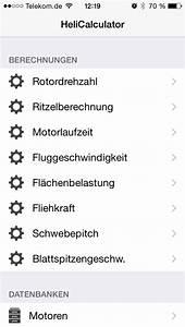 Fliehkraft Berechnen : heli calculator modellbau apps ~ Themetempest.com Abrechnung