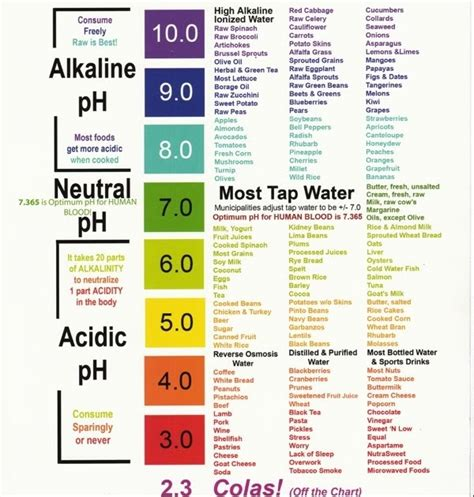 alkaline water   secret  optimal health  longevity alkaline  body today ph chart