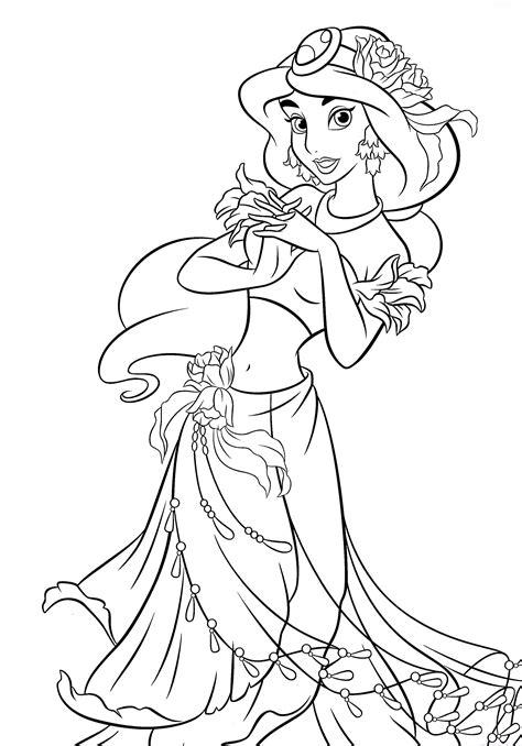 Dibujos Para Colorear De La Princesa Jasmin Princesas