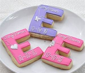 haniela39s fashionable letter e cookies With letter cookies