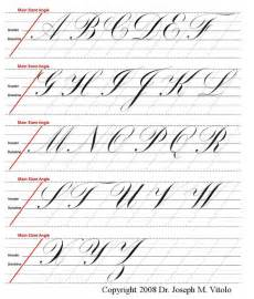 Copperplate Calligraphy Guide Sheet