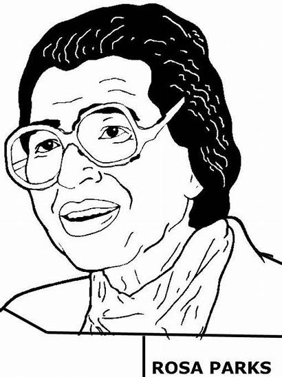 Rosa Parks Coloring Pages History African American