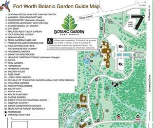 Fort Worth Botanical Gardens Map