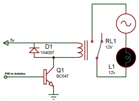 Relay Driver Circuit Electronic Diagrams