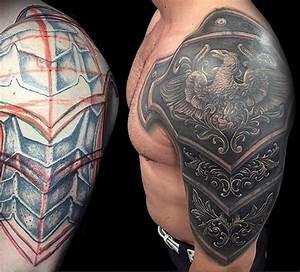 Top 90 Best Armor Tattoo Designs For Men - Walking ...