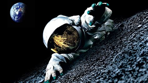 Hd Outer Space Pictures Outer Space Moon Earth Spaceman Wallpaper 65258