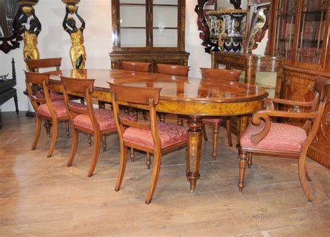vintage dining table sets dining table william iv chairs set walnut 6796