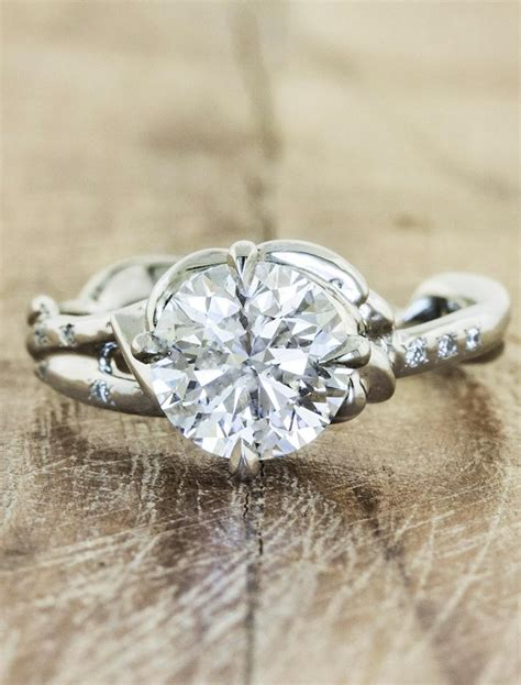 daya sculptural engagement ring ken design