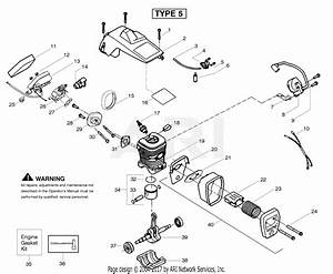 Poulan Pp220 Gas Chain Saw Type 5  220 Gas Chain Saw Type 5 Parts Diagram For Engine Type 5