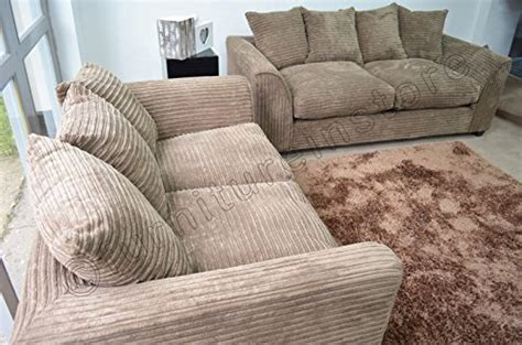 Throwovers For Settees by Byron Caramel Mink Fabric Jumbo Cord Sofa Settee