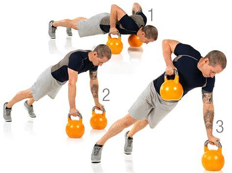 kettlebell push row workout partner exercise leg lunge watchfit