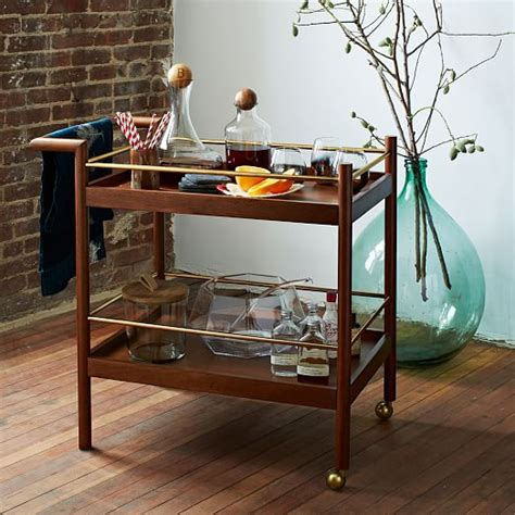 west elm bar table mid century bar cart west elm