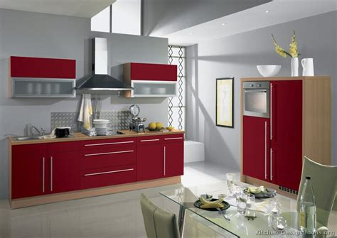 Kuche Rot by Pictures Of Kitchens Modern Two Tone Kitchen Cabinets