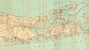 Long Island New York Historical Road Map  1911