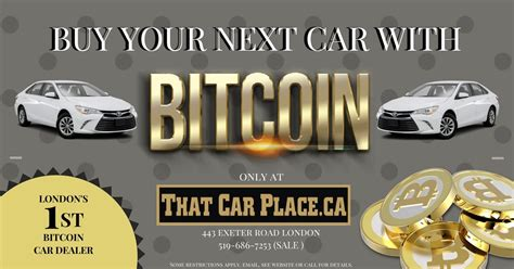 Where can you spend bitcoins? That Car Place - London's First and Only Bitcoin Car ...