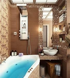 Tapeten Badezimmer Beispiele : 40 design ideen f r kleine badezimmer ~ Markanthonyermac.com Haus und Dekorationen