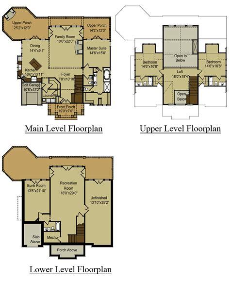 story open mountain house floor plan asheville