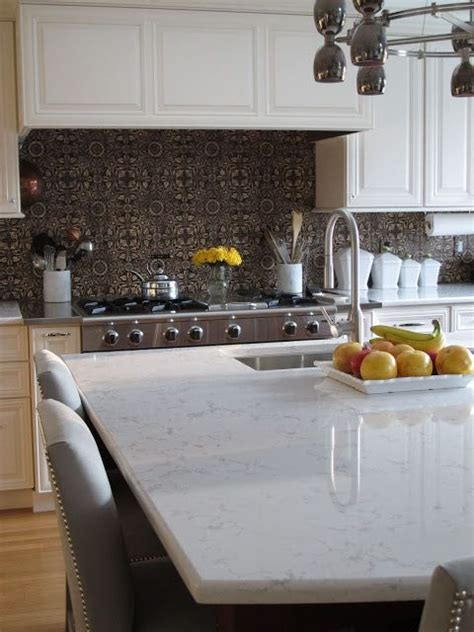 beveled edge hanstone quartz  kitchen