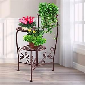 Metal, Outdoor, Indoor, Pot, Plant, Stand, Garden, Decor, Flower, Rack, Wrought, Iron