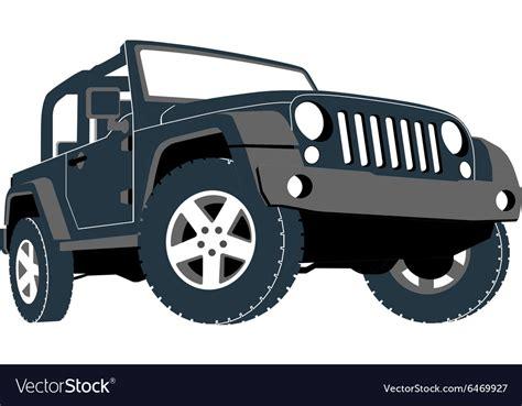 convertible car  road jeep suv royalty  vector image