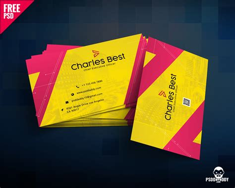 Design Business Cards Free Print Home by Creative Business Card Free Psd Psddaddy