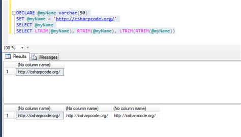 Trim Unnecessary Space From The String In Sql Server