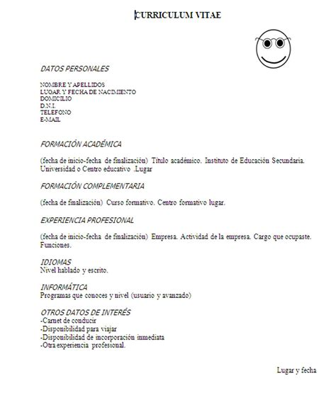 Como Se Dice Cv En Español by Inserci 211 N Laboral Y T 201 Cnicas De B 218 Squeda De Empleo Curriculum Vitae