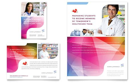 Pharmacy Brochure Template Free Pharmacy School Flyer Ad Template Word Publisher