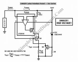 high dc voltage current sensing simple circuit diagram With possibly related to quotself powered current sensingquot circuits