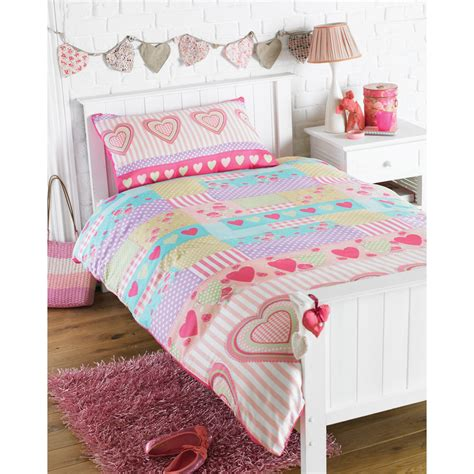 Girls Love Hearts Single Size Bedding Duvet Cover