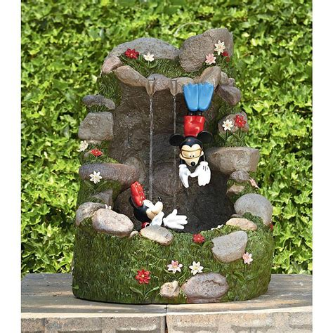 disney mickey minnie garden fountain  kmart