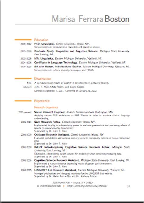 Poster Presentation Resume Format by Marisa Ferrara Boston