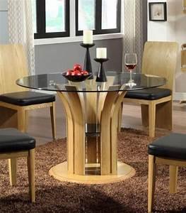 Table à Manger Verre Et Bois : table salle manger 24 photos invitez verre dans espace ~ Teatrodelosmanantiales.com Idées de Décoration