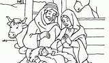 Coloring Jesus Birth Pages Printable Christmas Manger Getcolorings Getdrawings sketch template