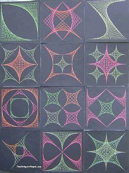 coordinate plane graphing  string art designs