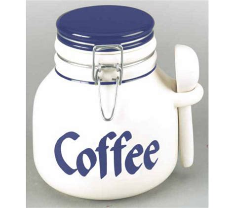 coffee canister with spoon clay design coffee canister with spoon qvc 2023