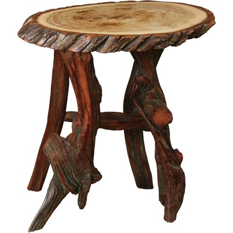 oval end table with driftwood base 10200 0102et rustic