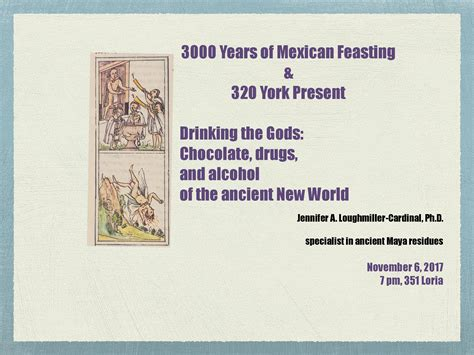 3000 Years of Mexican Feasting presents - Drinking the ...
