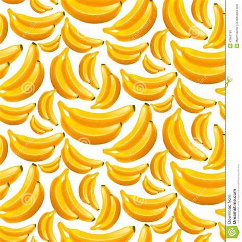 Banana seamless pattern stock vector. Image of fruit