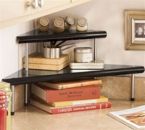how are kitchen islands 2 tier corner shelf from seventh avenue black or