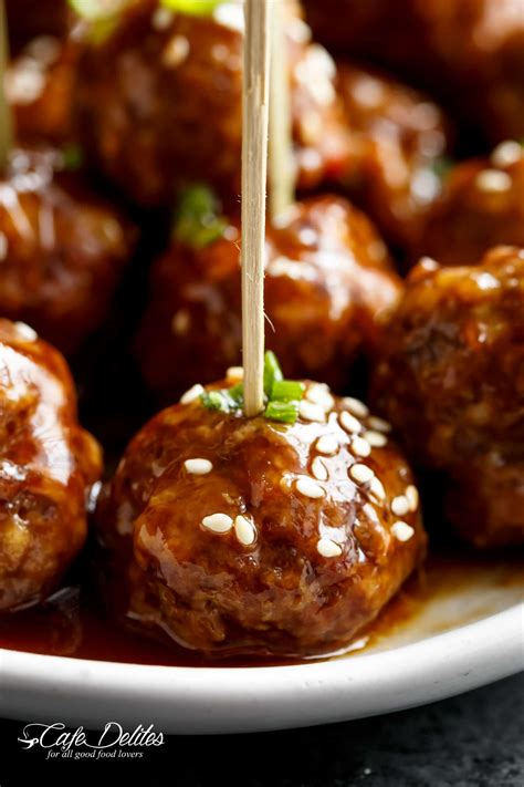teriyaki beef meatballs recipe cafe delites