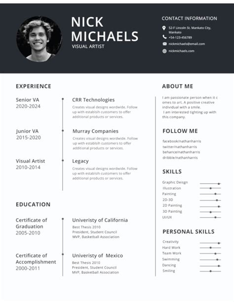 Ideal Cv Template by 47 Best Resume Formats Pdf Doc Free Premium Templates
