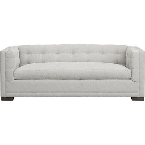 Tufted Apartment Sofa by Modern Gray Tufted Back And Arms Apartment Sofa