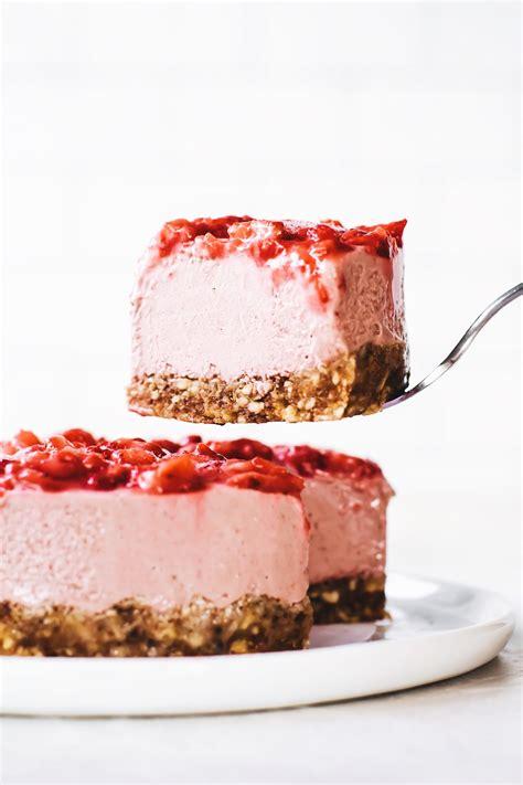 mix  bake strawberry cheesecake vegan gluten
