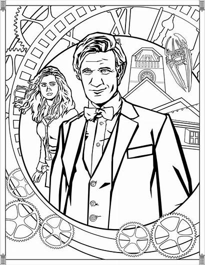 Doctor Coloring Pages Tv Eleventh Adults Series