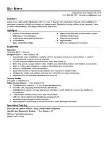 resume objective for babysitting how to write a resume for babysitting
