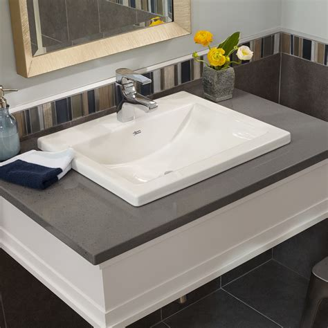 drop in bathroom sink vs undermount studio drop in bathroom sink american standard