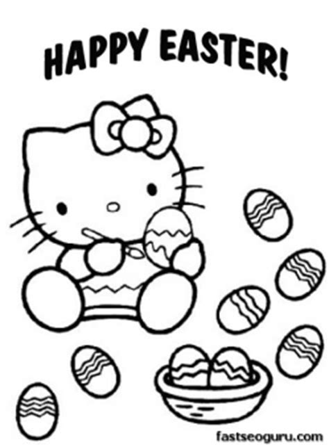 printable easter  kitty coloring pages  printable coloring pages  kids